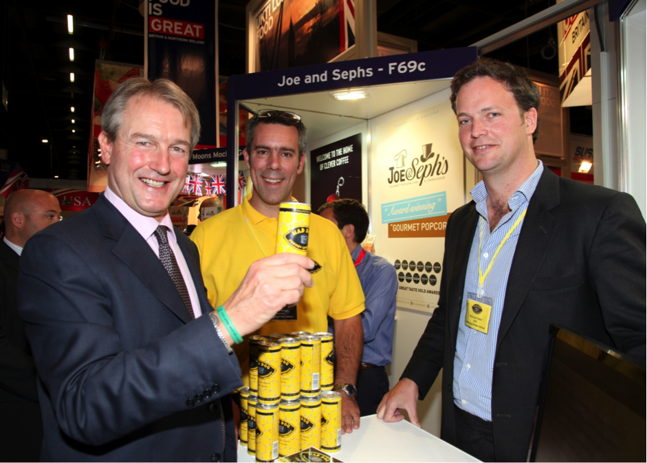 Owen Paterson, Secretary of State for environment, food and rural affairs (Left) and Exolta Partner Ross van Geest (Right) discussing export opportunities at ANUGA 2013.